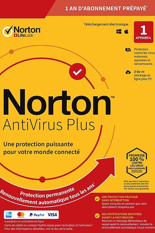 Norton Antivirus Plus 2020 | Antivirus pour 1 appareil et un an d'abonnement ave