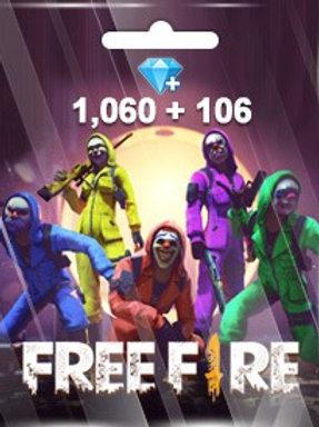FREE FIRE 1,060 + 106 DIAMONDS PINS (GARENA)