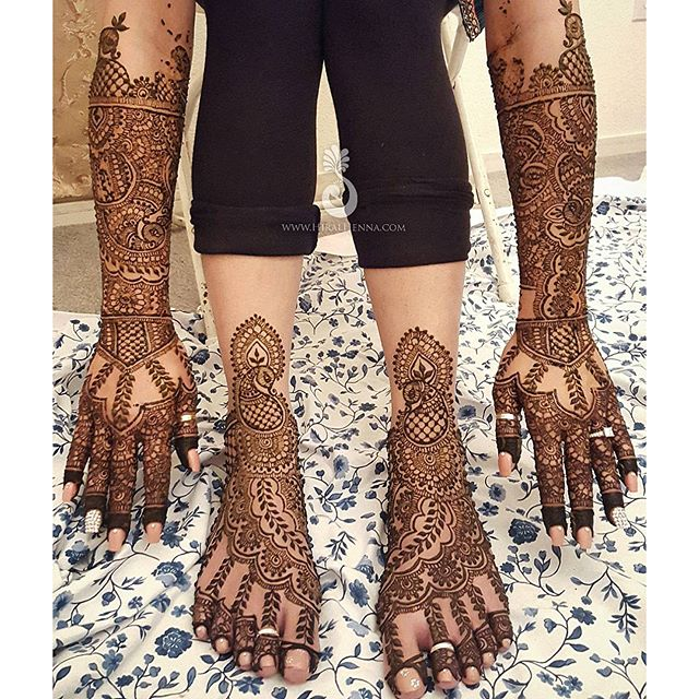 How was your #MehndiMonday_ Here's a full picture of _jazzpretzal's #bridalmehndi heavily inspired b