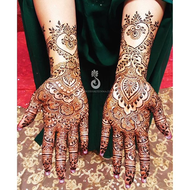 #Tbt to _sheenicheeni Shaleeni's #bridalmehndi with some #gulfhenna fusion