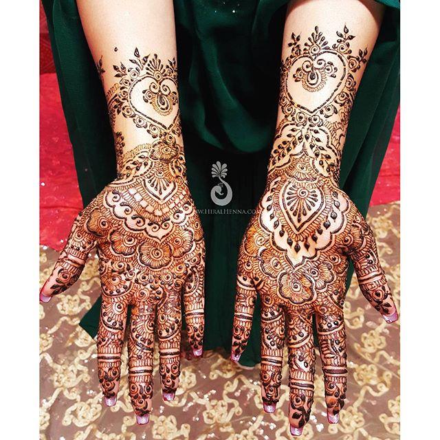 #Tbt to _sheenicheeni Shaleeni's #bridalmehndi with some #gulfhenna fusion