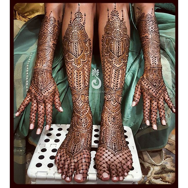 #ThrowbackThursday to _xtinadavis's #bridalhenna with lots of netting and grids