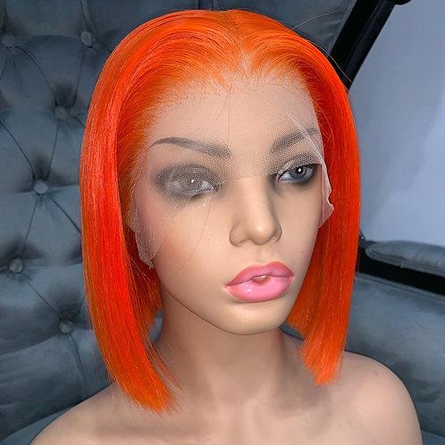 Custom Orange Spice Full Lace Wig Bob