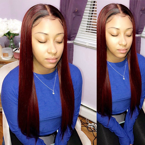 """""""Wine"""" 360 Frontal Wig 22in"""