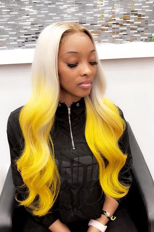 """Lemon Kush Full Lace Wig 24"""""""