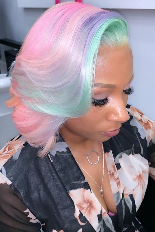 Minty mermaid Bob Full Lace Wig