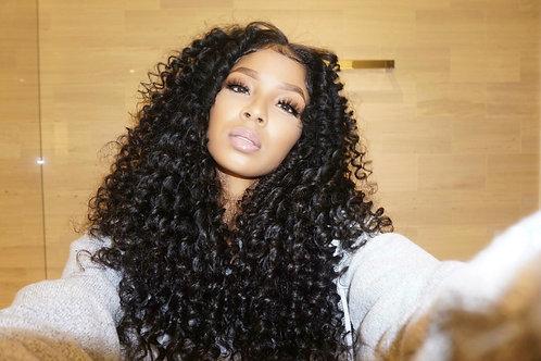 "Custom upart curly wig 24"""