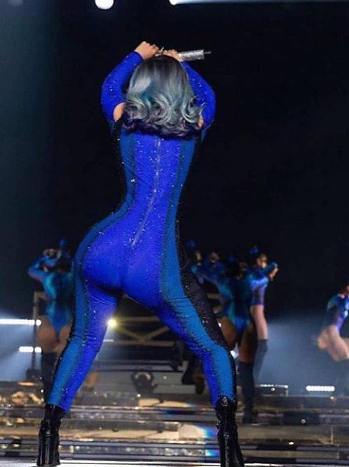 "Smoke 'N' Blue Full Lace wig 16"""