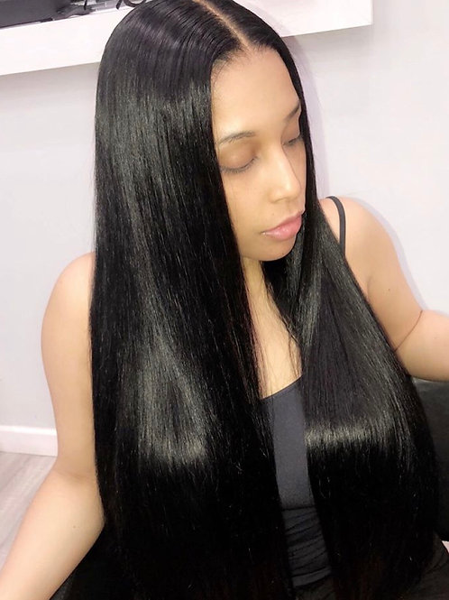 """Black Full lace wig 30"""""""