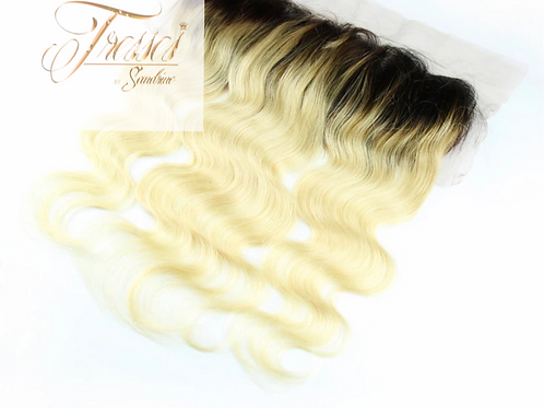 Belle Russian Blonde Lace Frontal w/ Dark Roots