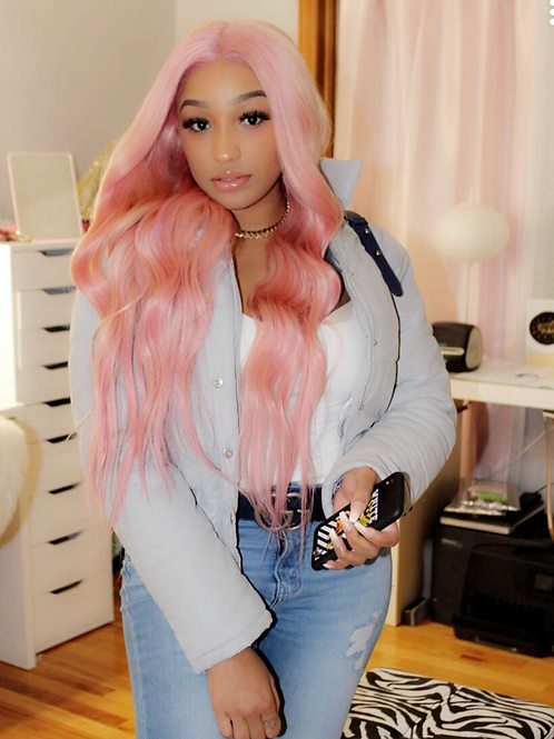 """Custom Cotton Candy Full Lace Wig 24"""""""