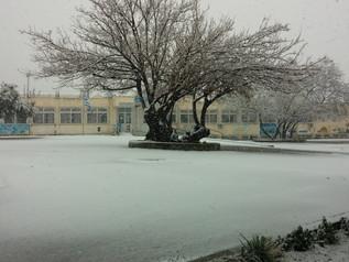 Το Σχολειό μας χιονισμένο