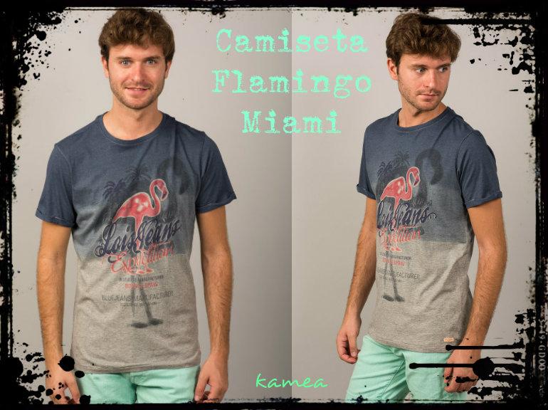 camiseta flamingo