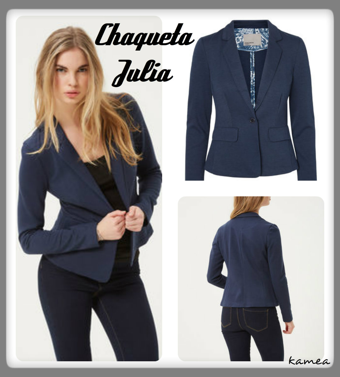 chaqueta julia azul