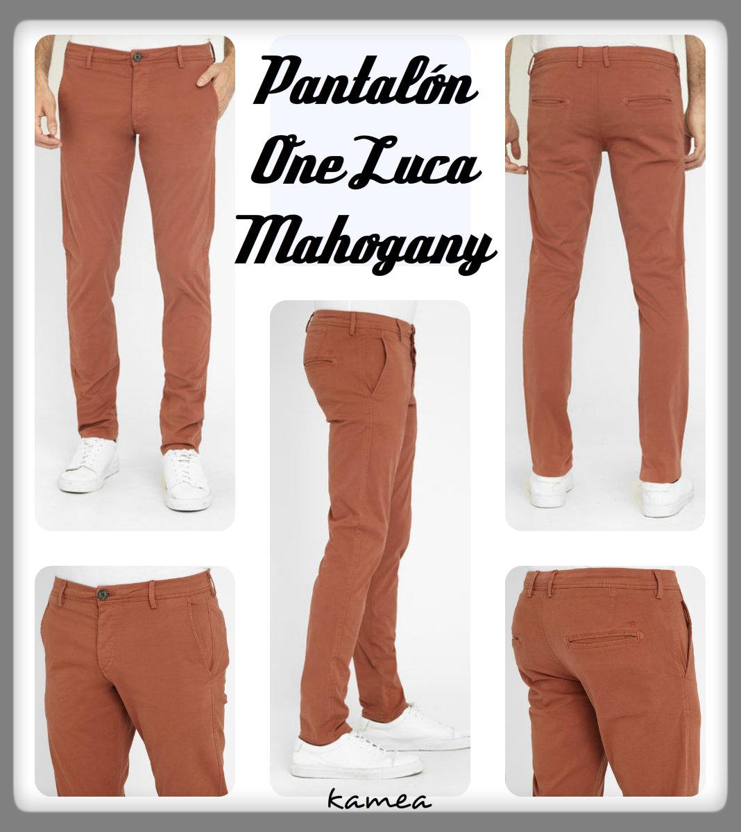 pantalon one luca mahogany
