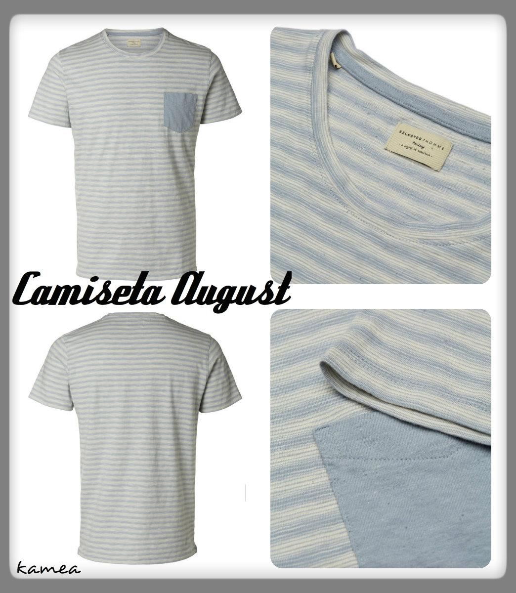 camiseta august azul