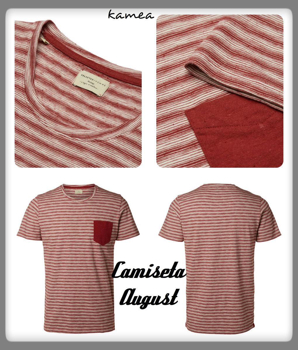 camiseta august rojo