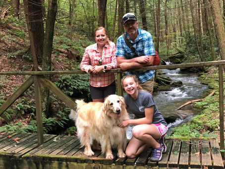 Brookie fishing in the Pa Wilds. Thanks Kandy, Shawn, Klair and Brookie.