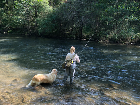 Brookie and I on Spring Creek.
