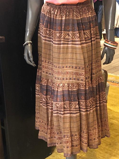 Smuk silke-nederdel fra MesDeMoiselles, ochre voile