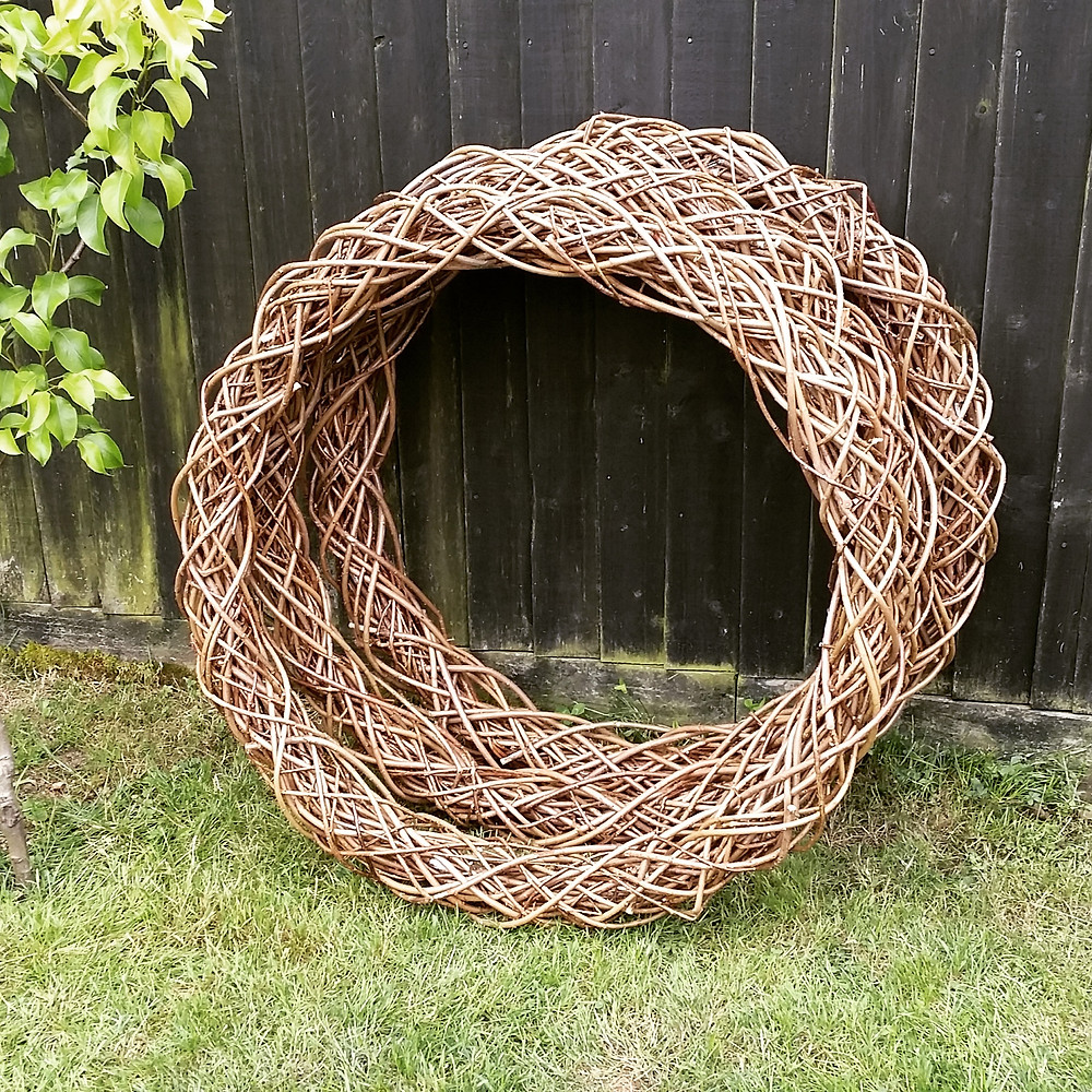 willow natural rustic twig large ring hoop wreath