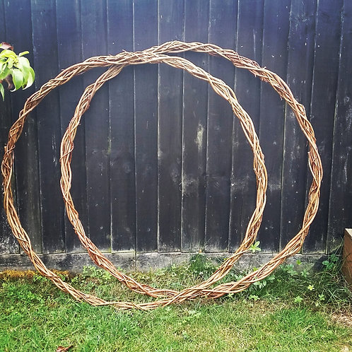 3 x Large, Thin Willow Rings