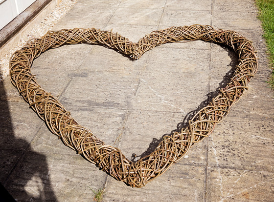 Giant Wicker Heart