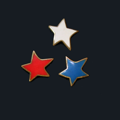 Red, White and Blue Stars (3-pins)