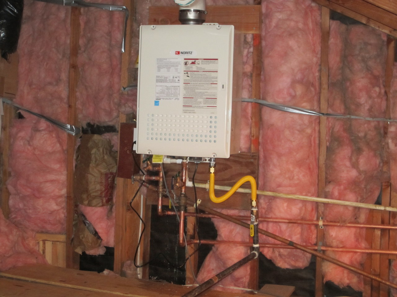 Tankless Heater in attic