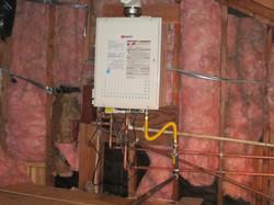 Tankless Heater in attic