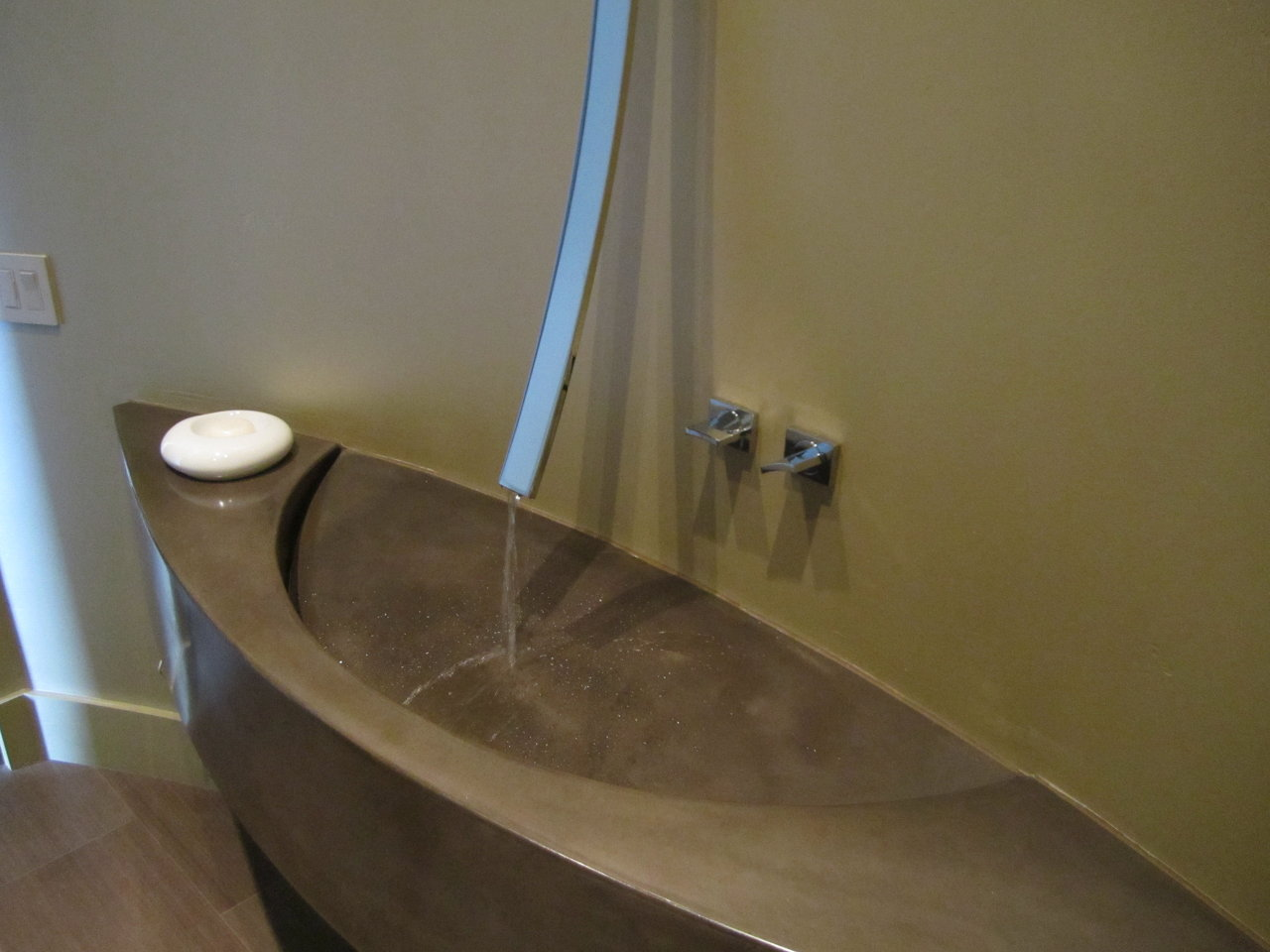 Powder bath sink