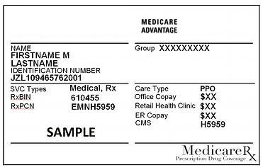 Medicare Advantage Sample ID Card