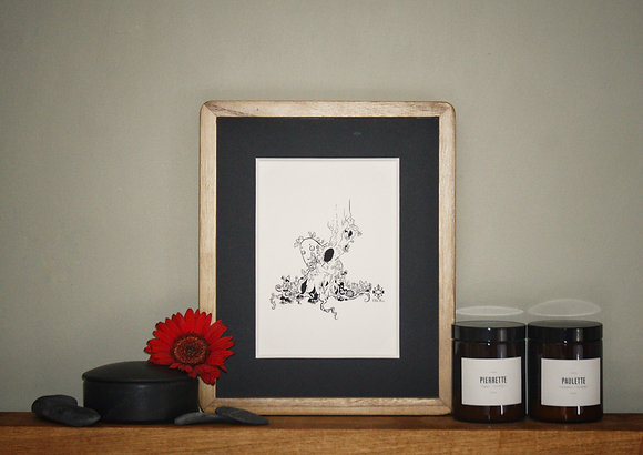 Cute Forest Creature Twisted Tree Fairy Art Print