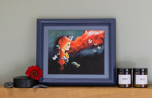 Caia Caecilia Red Haired Goddess Painting