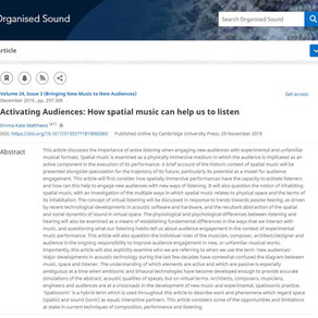 NEW ARTICLE! Activating Audiences