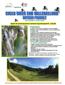 Ciclo Week End Vallebelluna