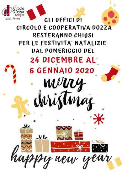 Chiusura natalizia degli uffici