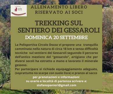Trekking sul Sentiero dei Gessaroli
