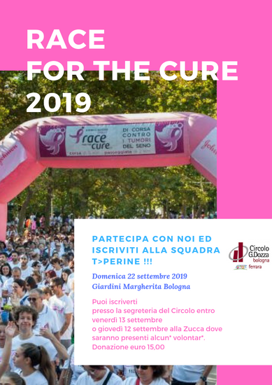 Race for the Cure - 22 settembre 2019