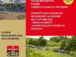Vi aspettiamo all'Italian Bike Festival!