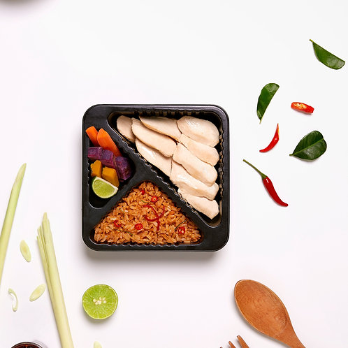 TomYom Fried Brown Rice with Chicken
