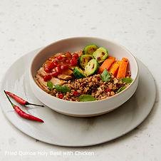 Fried holy basil rice