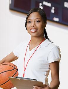 Weiblicher Basketball-Trainer