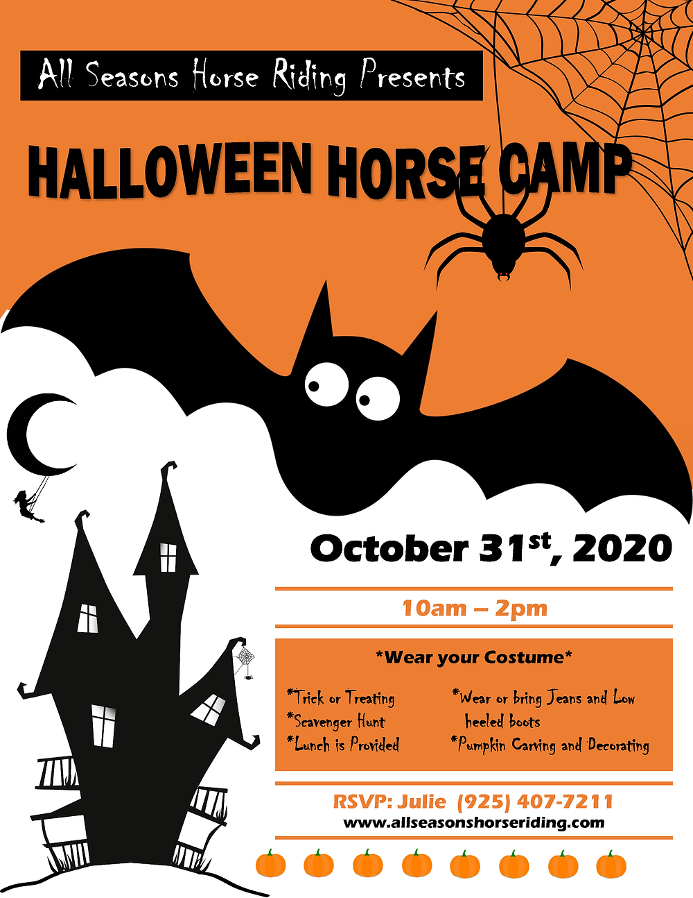 Halloween Horse Camp 2020