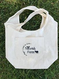 nourish farm turlock reusable shopping tote