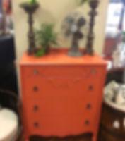 Restyled Vintage Orange Dresser | Rustic Roots Turlock