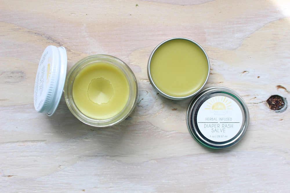 Herbal Infused Diaper Rash Salve | Handmade in Turlock, California by Sunkissed Botanics