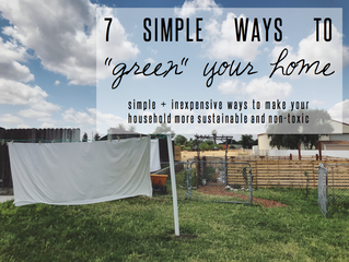"Sunkissed Tips // 7 Simple Ways to ""Green"" Your Home"