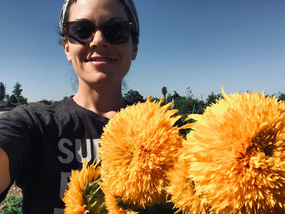 Nourish Farm Turlock with sunflowers
