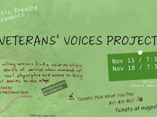 CAST LIST ANNOUNCEMENT! Veterans' Voices Project II